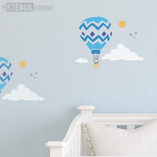 Balloon and Sheep stencil from the stencil studio Ltd size S