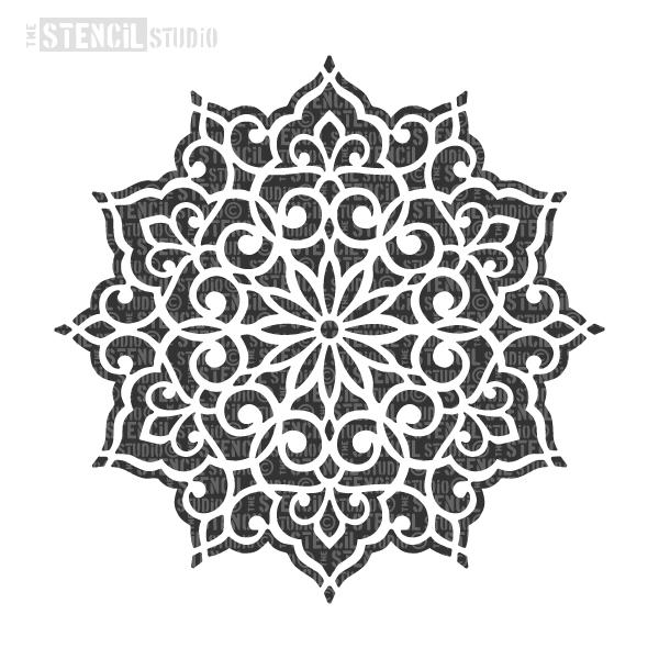 Ottoman Motif stencil from The Stencil Studio