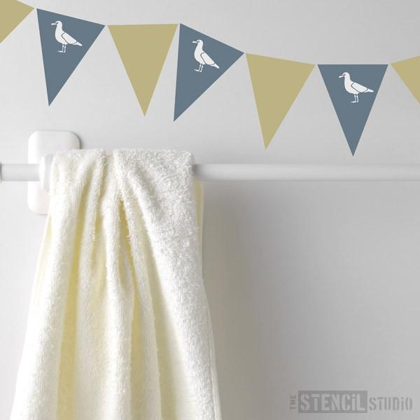Seagull Bunting stencil from The Stencil Studio Ltd - Size XS
