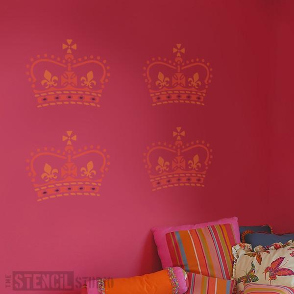 Crown stencil from The Stencil Studio Ltd - Size M