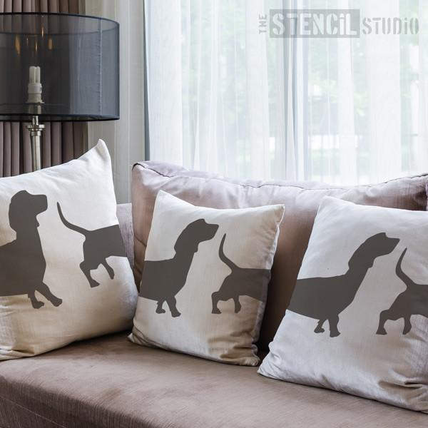 Dachshund dog stencil from The Stencil Studio Ltd - Size M