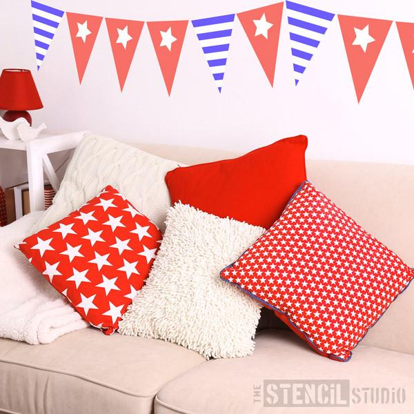 Single Star Bunting stencil from The Stencil Studio Ltd - Size S