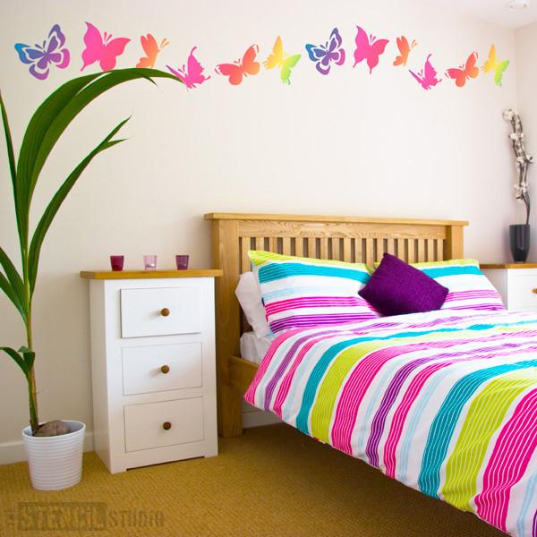 Butterfly set from the stencil studio Ltd size L