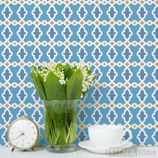 Rabat Moroccan Pattern Stencil from The Stencil Studio Ltd - Size S