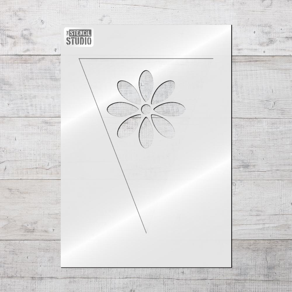 Daisy bunting stencil from The Stencil Studio Bunting collection