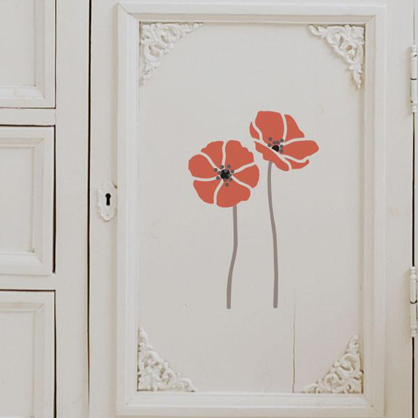 Tall Poppies stencil from The Stencil Studio Ltd - Size S