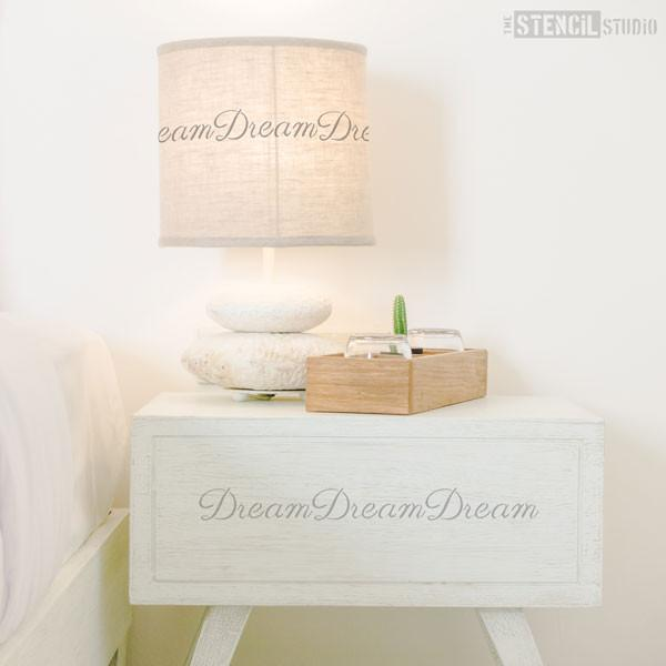 Dream text stencil from The Stencil Studio Ltd - Size XS