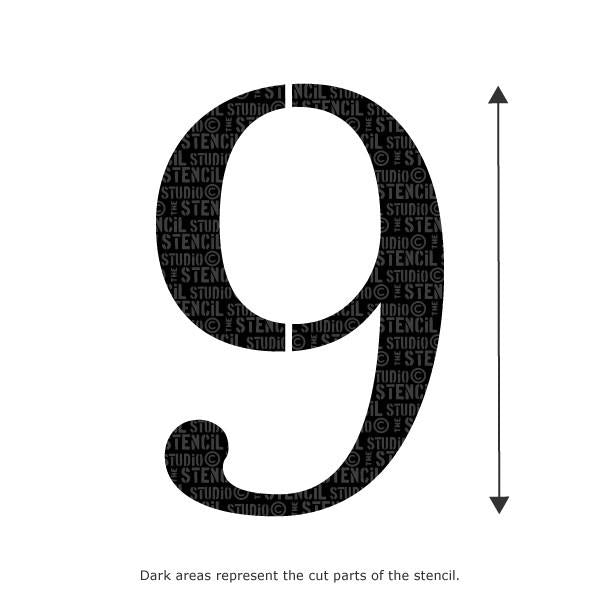 Decorative Number Stencil - 9