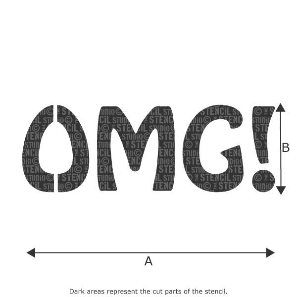OMG stencil from The Stencil Studio Ltd