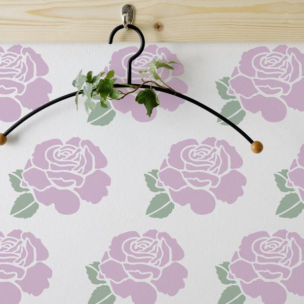 Summer Rose Stem stencil from The Stencil Studio Ltd - Size XS