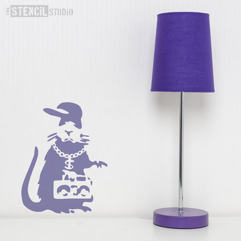 Banksy Gangsta Rat Wall Stencil from The Stencil Studio - Size S