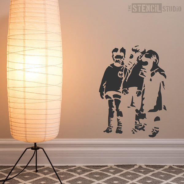 Banksy Gas Mask Kids Wall Stencil at The Stencil Studio - Stencil Size L. Banksy Gas Mask Kids Wall Stencil at The Stencil Studio - Stencil Size L & Banksy Gas Mask Kids Wall Stencil -Free Pu0026P-Better than wall ...