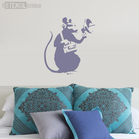 Banksy Radar Rat Graffiti Wall Stencil from The Stencil Studio - Size L