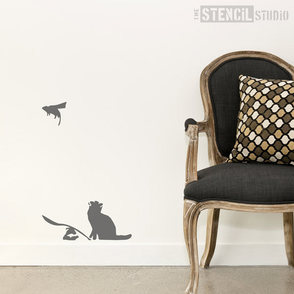 Banksy Ratapult Graffiti Wall Stencil from The Stencil Studio - Size L