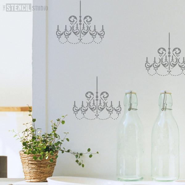Chandelier stencil from The Stencil Studio Ltd - Size XS