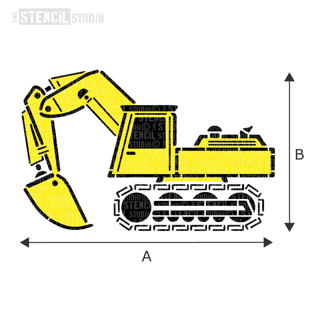 Excavator Stencil from The Stencil Studio