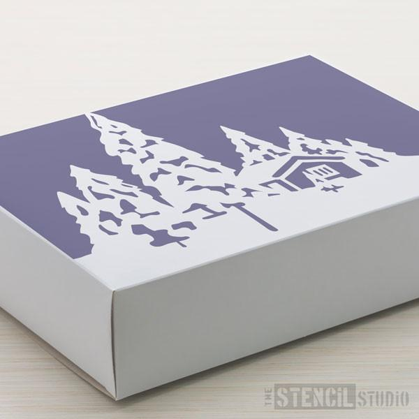 Snow Scene stencil from The Stencil Studio Ltd - Size XS
