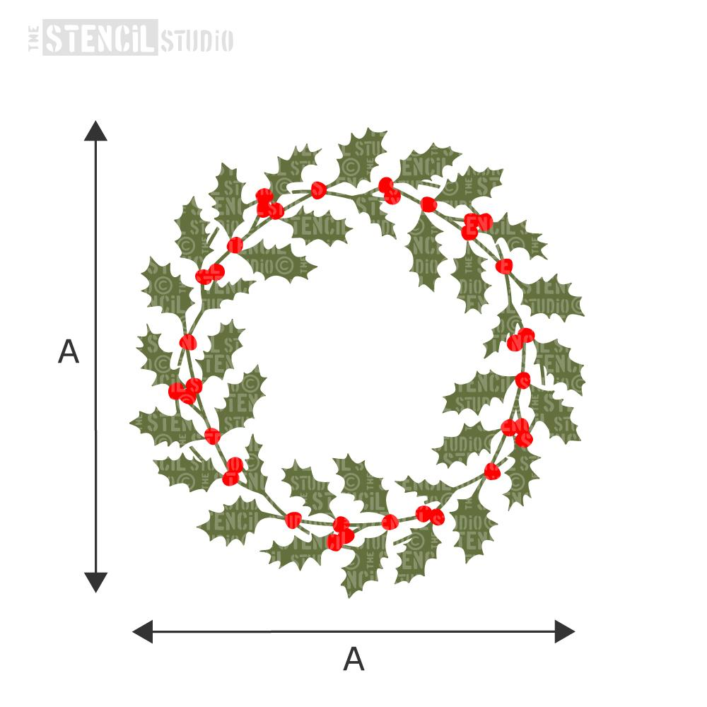 Holly Wreath Stencil