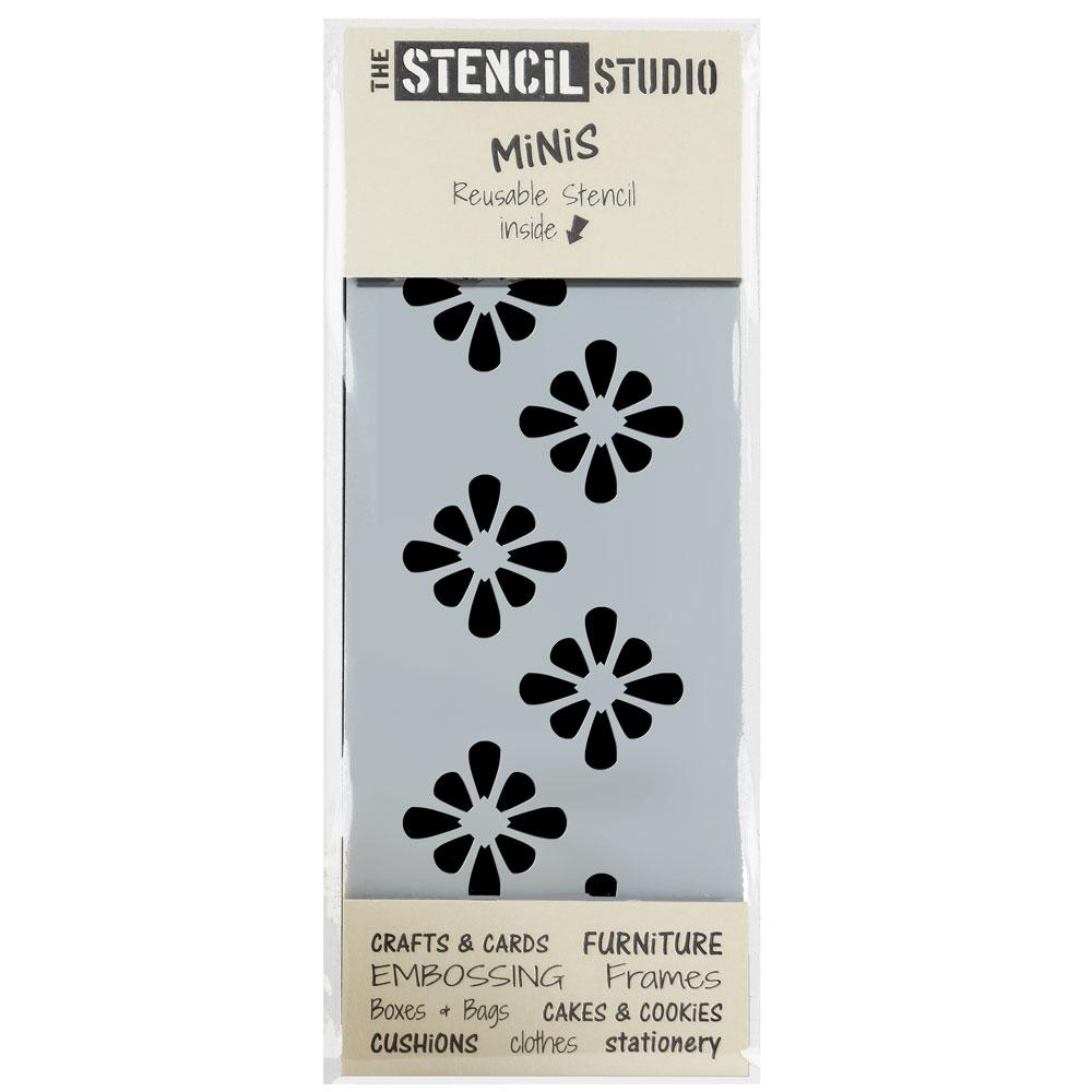 Montana Flower Border Stencil MiNi