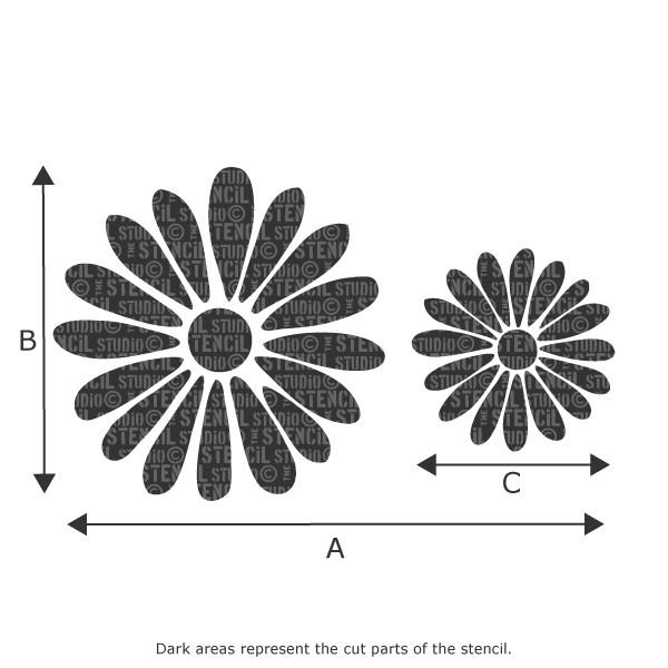 Daisy Border Stencil from The Stencil Studio Ltd
