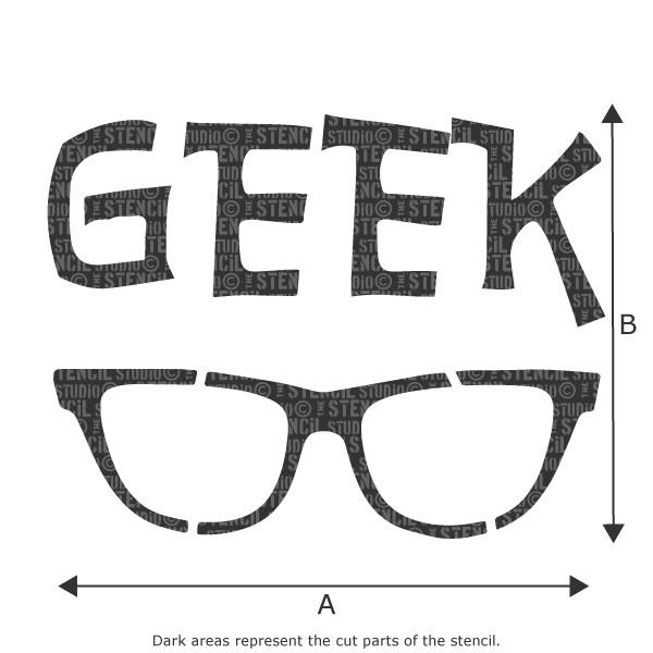 GEEK Glasses stencil from The Stencil Studio Ltd - Size XS