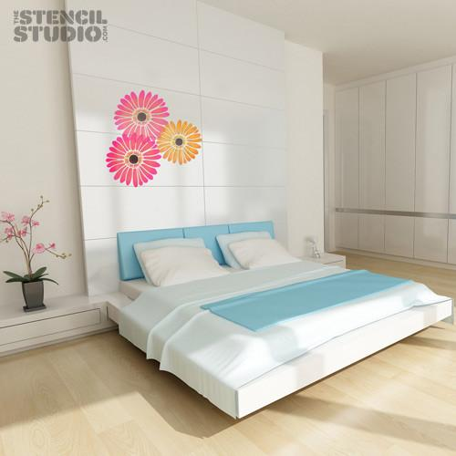 Gerbera flower stencil from The Stencil Studio Ltd - Size L