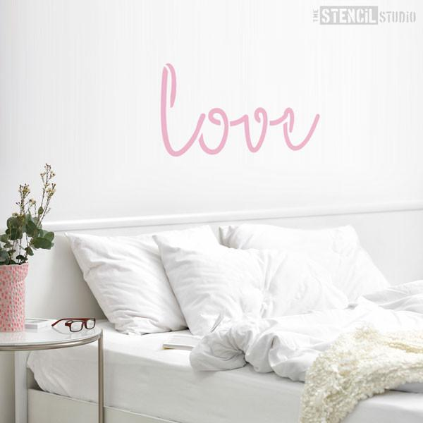 Love Text Stencil from The Stencil Studio - Stencil Size XL