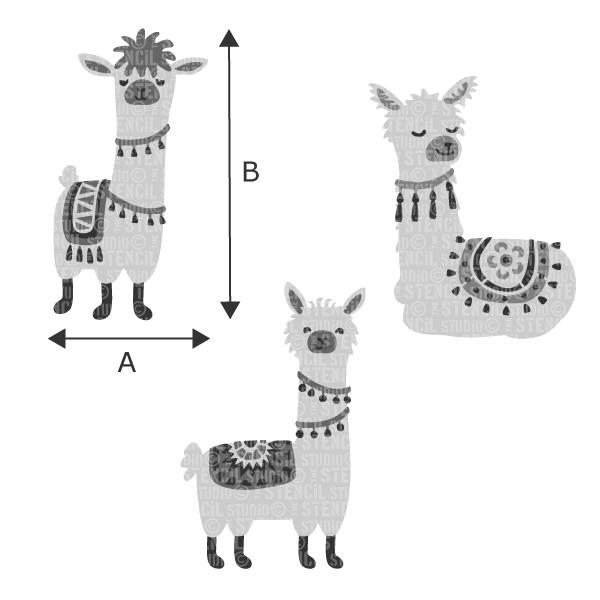 Lionel, Lesley and Levi Llamas multi pack - choose a size from the dropdown box
