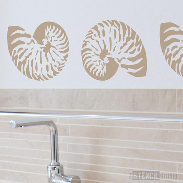 Nautilus Shell stencil from The Stencil Studio Ltd - Size S