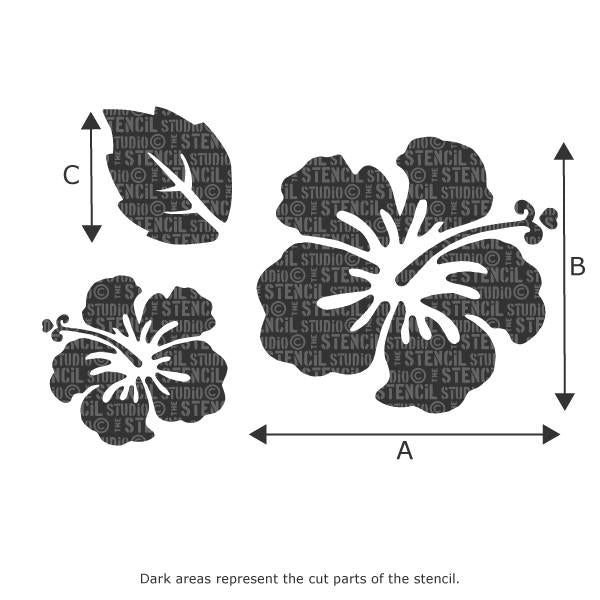 Hibiscus Stencil Set from The Stencil Studio Ltd