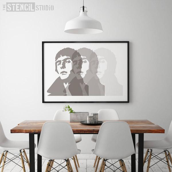 Liam Gallagher stencil from The Stencil Studio Ltd - Size L