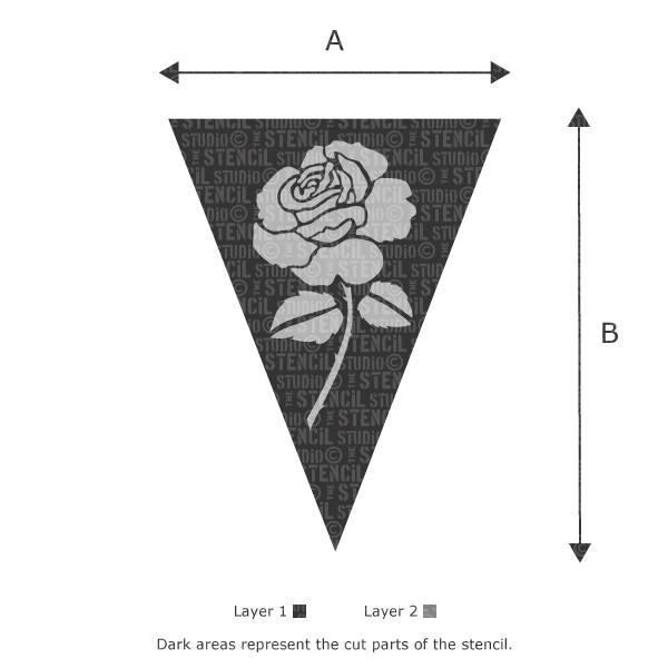 Rose Bunting stencil from The Stencil Studio Ltd