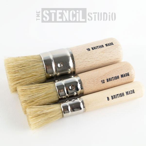 Stencil brush set 1 - three brushes for the price of 2
