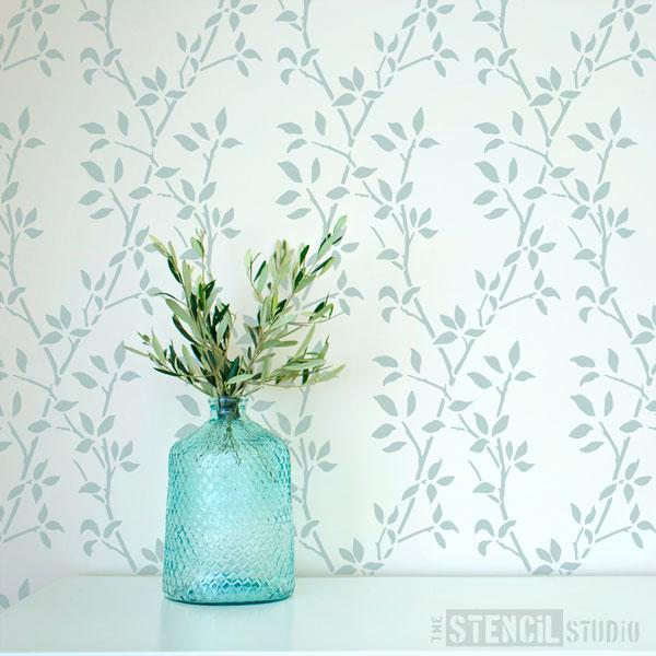 Leaf Trellis Repeat pattern stencil from The Stencil Studio - Size M
