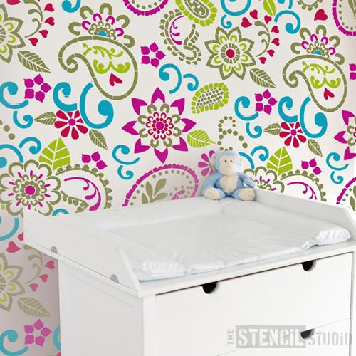 Pukka Paisley stencil from The Stencil Studio Ltd - Size L