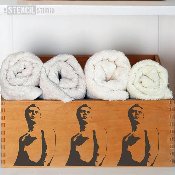 Steve McQueen stencil from The Stencil Studio Ltd - Size XS