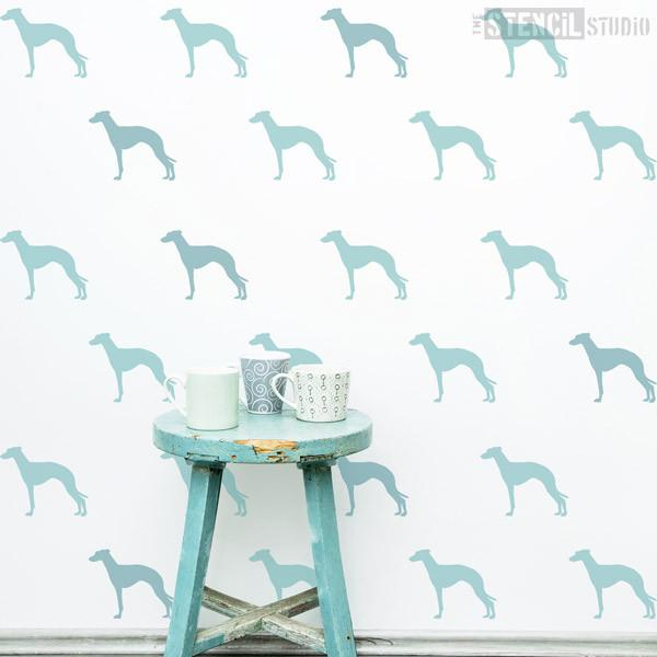 Greyhound dog stencil from The Stencil Studio Ltd - Size S