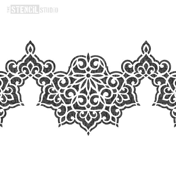 Ottoman Border stencil from The Stencil Studio