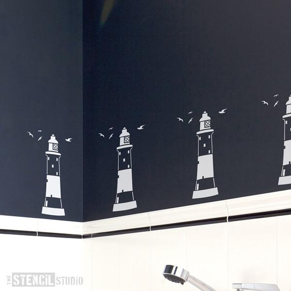Portland Lighthouse stencil from The Stencil Studio Ltd - Size S