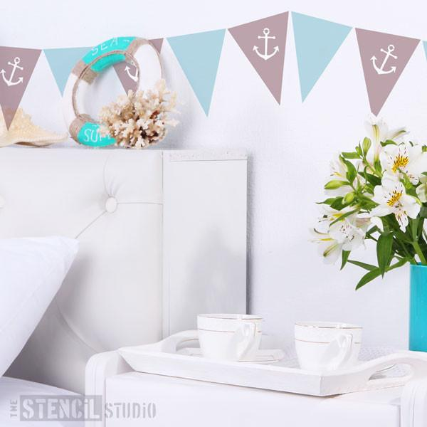 Anchor Bunting Stencil from The Stencil Studio Ltd - Size XS