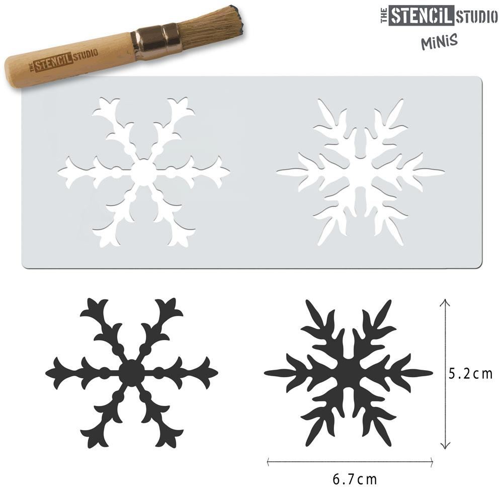 Snowflakes stencil MiNi from The Stencil Studio