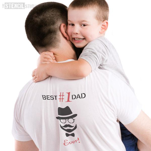 Best Dad Ever! stencil from The Stencil Studio Ltd - Size S