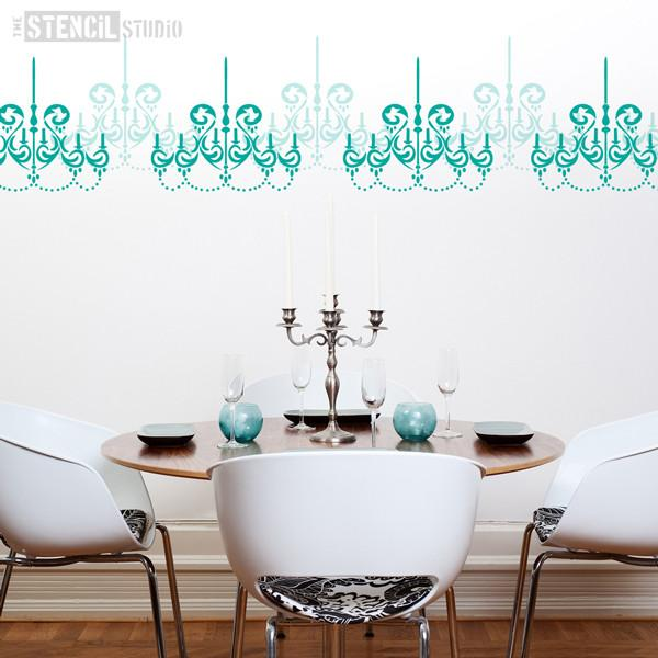 chandelier stencil from the stencil studio ltd size L