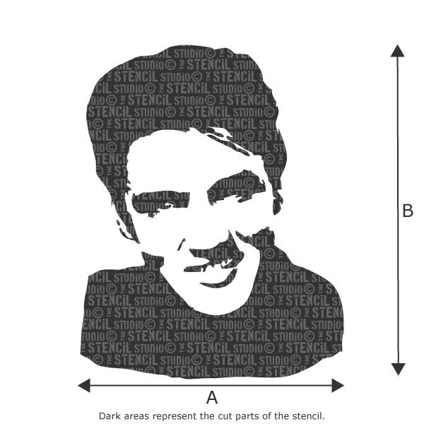 Elvis smiling face stencil from The Stencil Studio Ltd