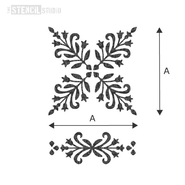 Bessies Block and Border stencil from The Stencil Studio - Choose size from the dropdown box