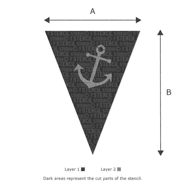 Anchor Bunting Stencil from The Stencil Studio Ltd