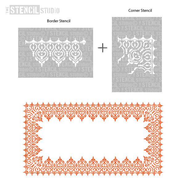 Adoor Indian Border & Corner Stencil Pack
