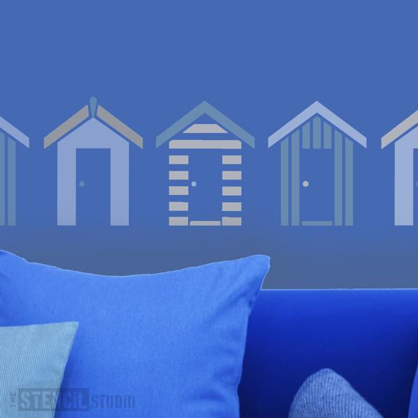 Southwold Beach Huts stencil from The Stencil Studio Ltd - Size M