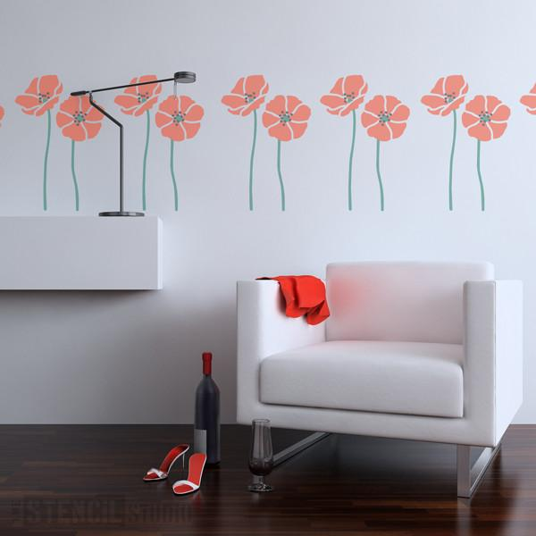 Tall Poppies stencil from The Stencil Studio Ltd - Size M