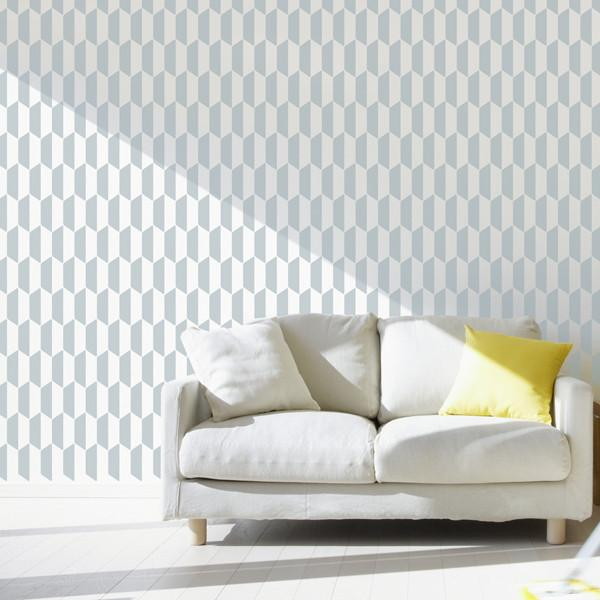 Ribb Repeat pattern stencil from The Stencil Studio Ltd - Size XL